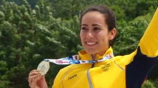 La ciclista Mariana Pajón puede obtener su segunda medalla en estos juegos cuando participe en la modalidad de carrera este sábado. Foto: NoticiasRCN.com