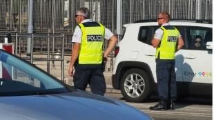 Policía en España. Foto: Raymond Roig / AFP