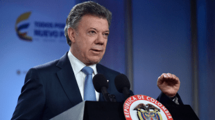 Foto: Presidente Juan Manuel Santos en la Casa de Nariño