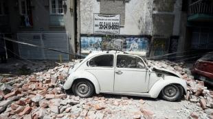El terremoto causó gran devastación. Foto: Alfredo Estrella / AFP