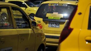 Foto: AFP / Taxista Bogotá