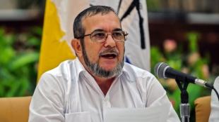 El jefe de las Farc, Rodrigo Londoño alias 'Timochenko'. Foto. AFP.