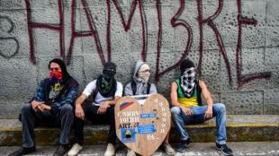 Opositores venezolanos. Foto: Ronaldo Schemidt / AFP