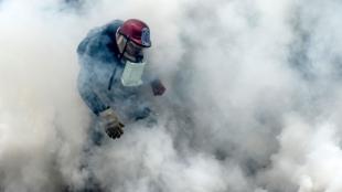 Disturbios en Venezuela. Foto: AFP