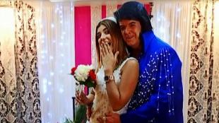 El matrimonio de Andrea Jaramillo al ritmo de Elvis Presley en Las Vegas
