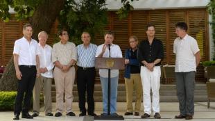Según Santos, desde el próximo martes los negociadores de paz del Gobierno y de las Farc se sentarán de manera indefinida hasta llegar a un acuerdo final. Foto: Oficial.