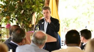Santos explicó que la ONU cumplirá con la consigna gracias al concurso de observadores de países amigos de Colombia. Foto: Presidencia