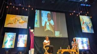 Leonor Espinosa en conversación con Brigitte Baptiste