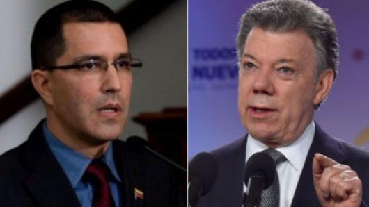 Arreaza fustiga declaraciones de Santos sobre juramentación de gobernadores opositores ante ANC