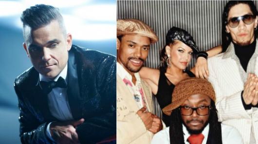 Black Eyed Peas y Robbie Williams a concierto en Manchester