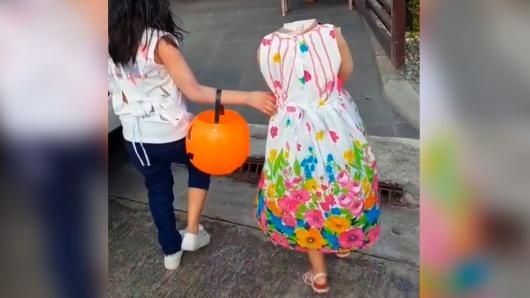 Nina Caminando Sin Cabeza El Terror En Las Calles De Filipinas - Disfraces-sin-cabeza