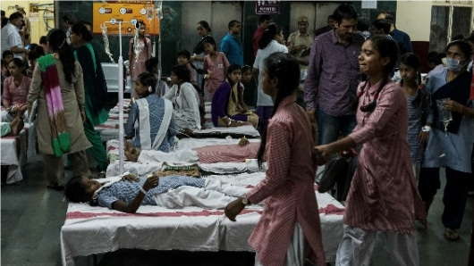 Fuga de gas manda al hospital a 300 niñas
