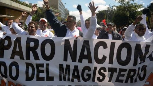 Gobierno colombiano retoma diálogo para poner fin paro de maestros