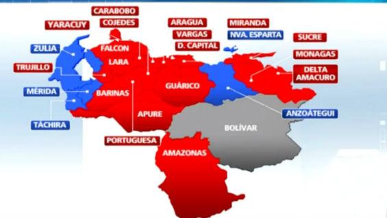Resultado de imagen para nuevo mapa de las gobernaciones en venezuela 2017
