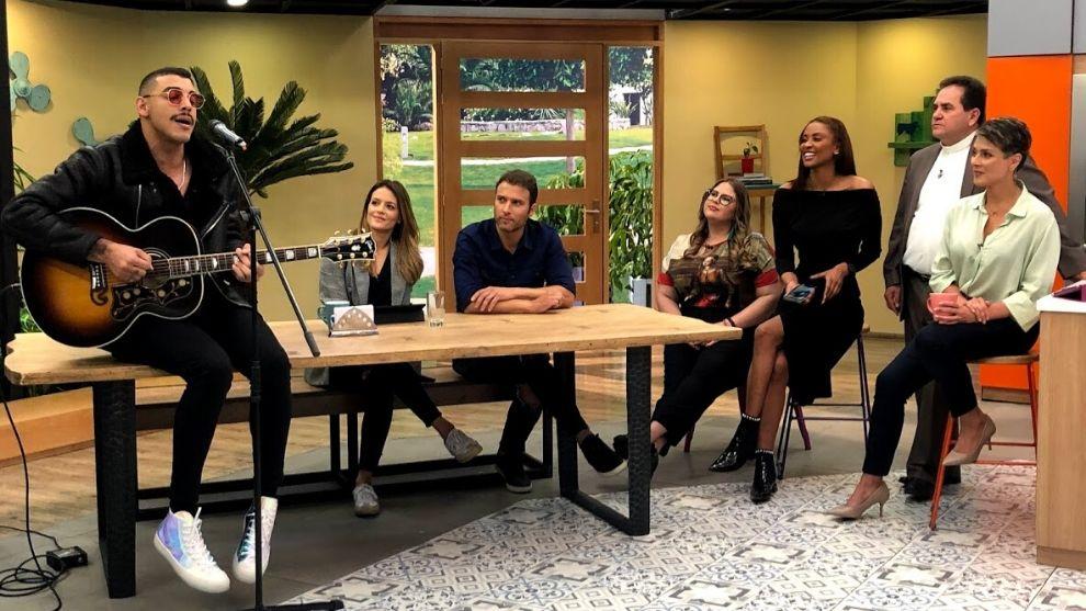 Los artistas Manuel Medrano y Carlos Fernández hablaron de música en Nuestra Casa
