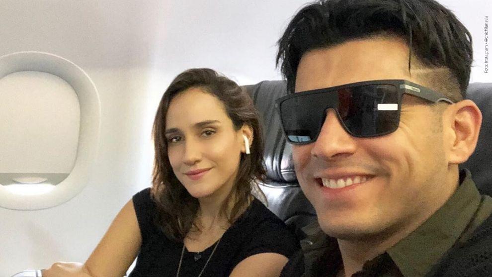 Cecilia Navia y su esposo, Santiago Alarcón.