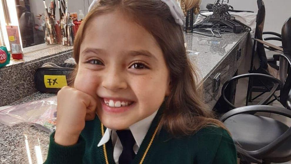 Ella es Hanny Vizcaino, la pequeña que le dará vida a Isabel