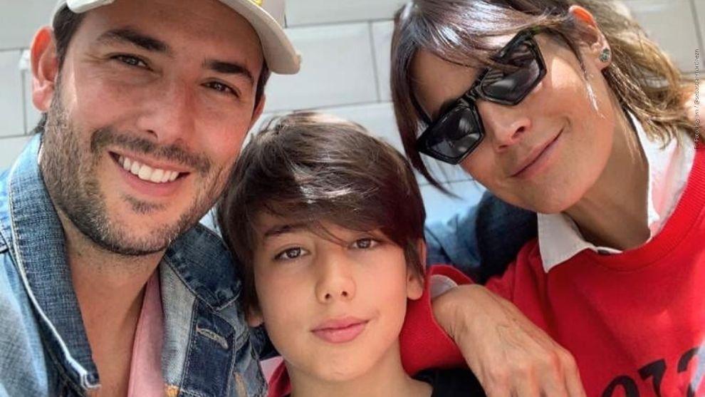 Sebastián Martínez, su esposa y su hijo Amador.