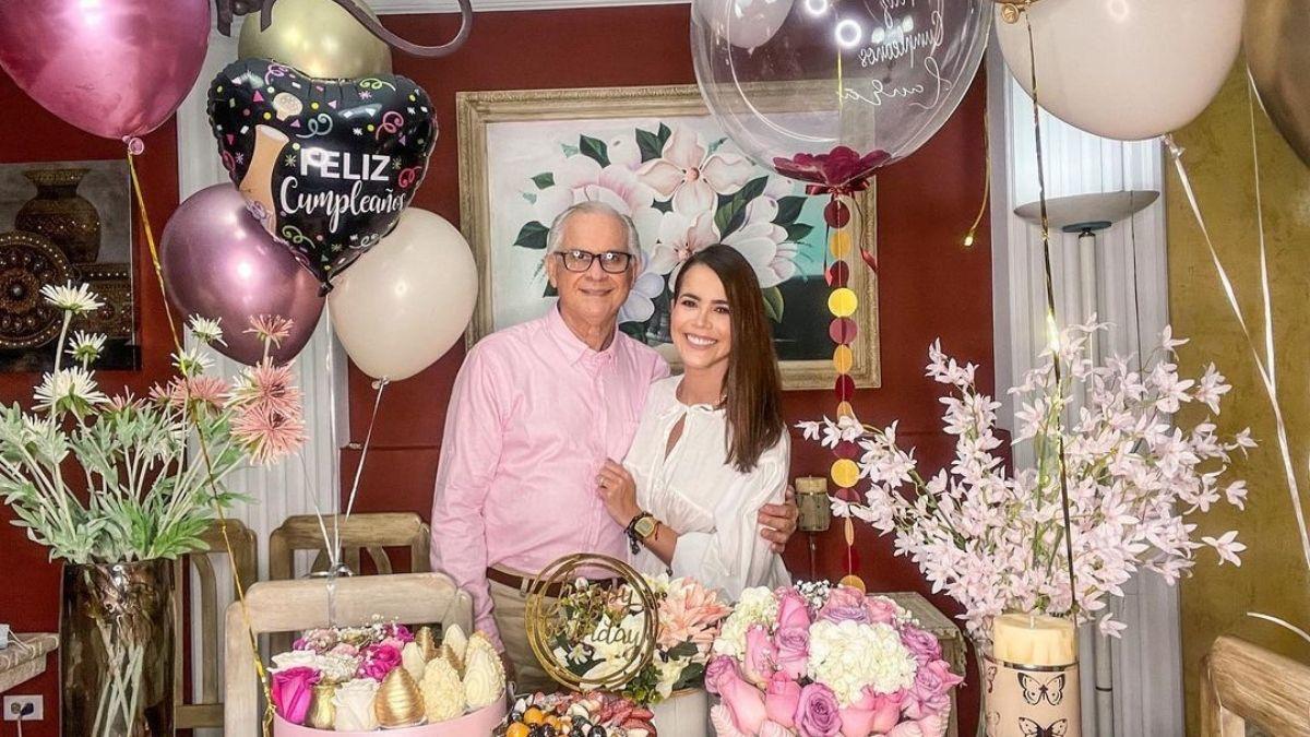 Al ritmo de vallenato, Laura de Leon y su padre celebraron sus cumpleaños