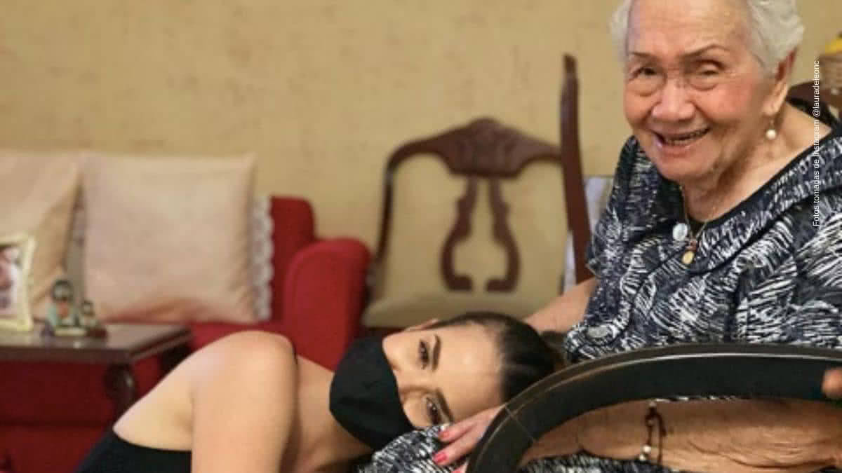 Laura de Leon causo envidia tras presumir a su abuelita