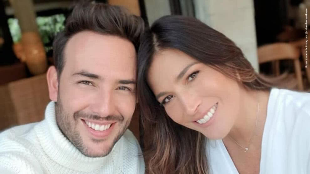 Sebastian Martinez se mostro muy enamorado en redes de su esposa