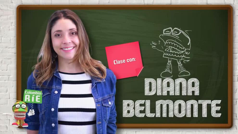 Clases de la actriz Diana Belmonte a los participantes de Colombia Ríe