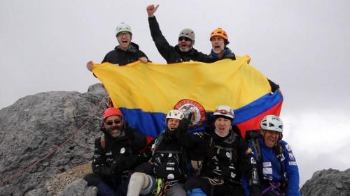 Deportista paralimpico colombiano en el Everest