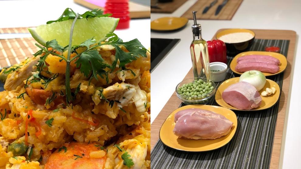 Receta: arroz trifásico con chorizo