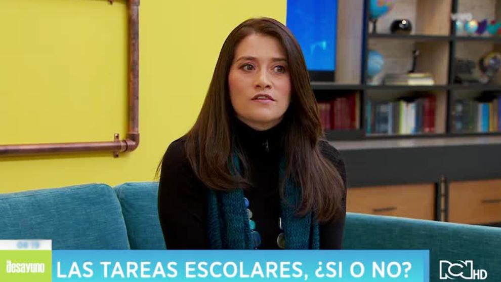 Erika Romero y las tareas escolares