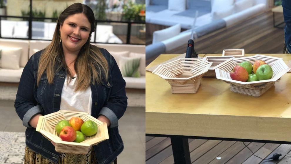 La Tienda de Macla: fruteros hechos con palitos de paleta o de madera