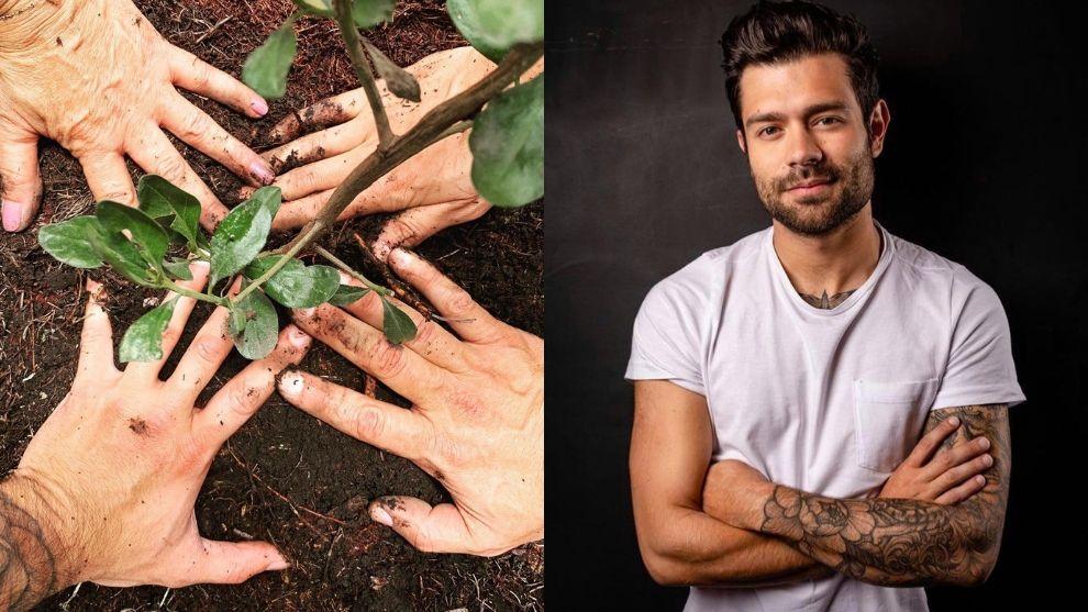 """Juan Diego celebró el cumpleaños de El Desayuno plantando árboles con su """"tribu"""""""