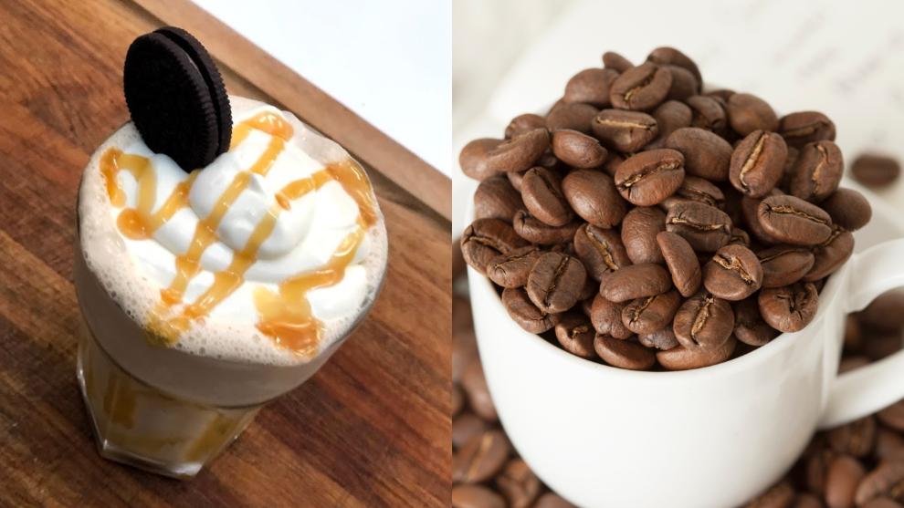 Malteada de café y caramelo