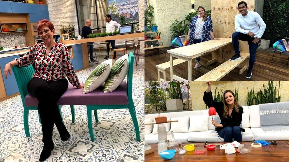 Muebles con materiales reciclables para la sala y el comedor