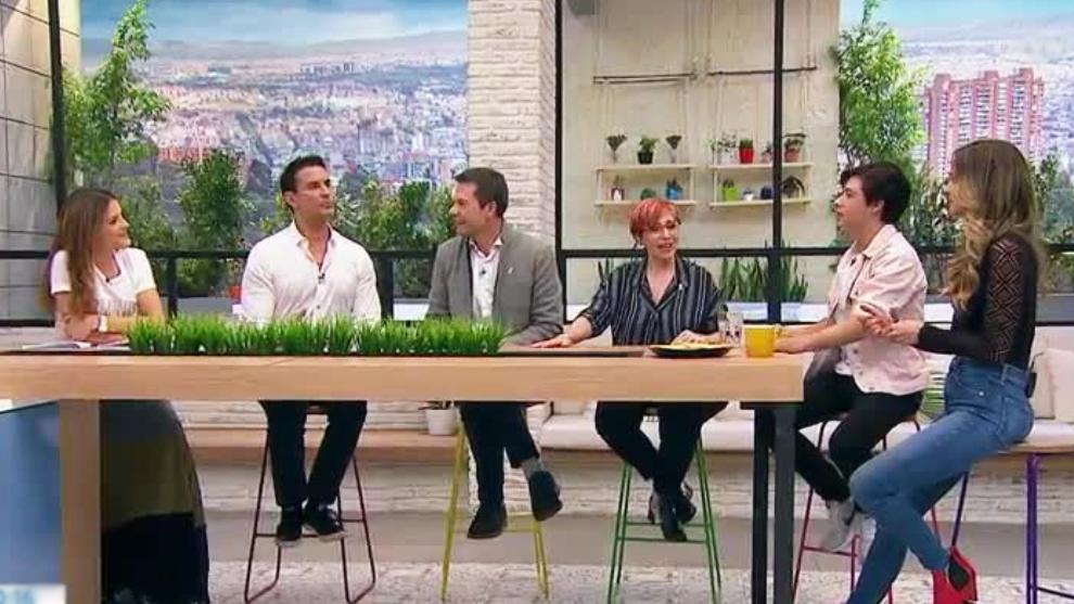 Karen Martinez, Luis Fernando Salas y Brandon Figueredo en El Desayuno