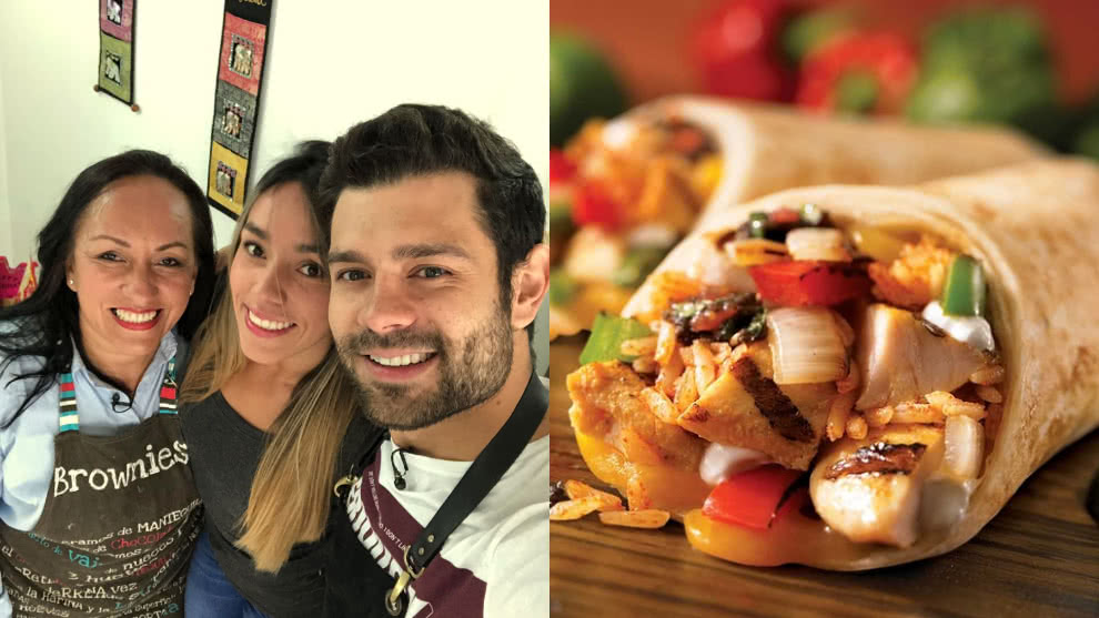 Arrocito en Bajo: burrito de pollo con nachos