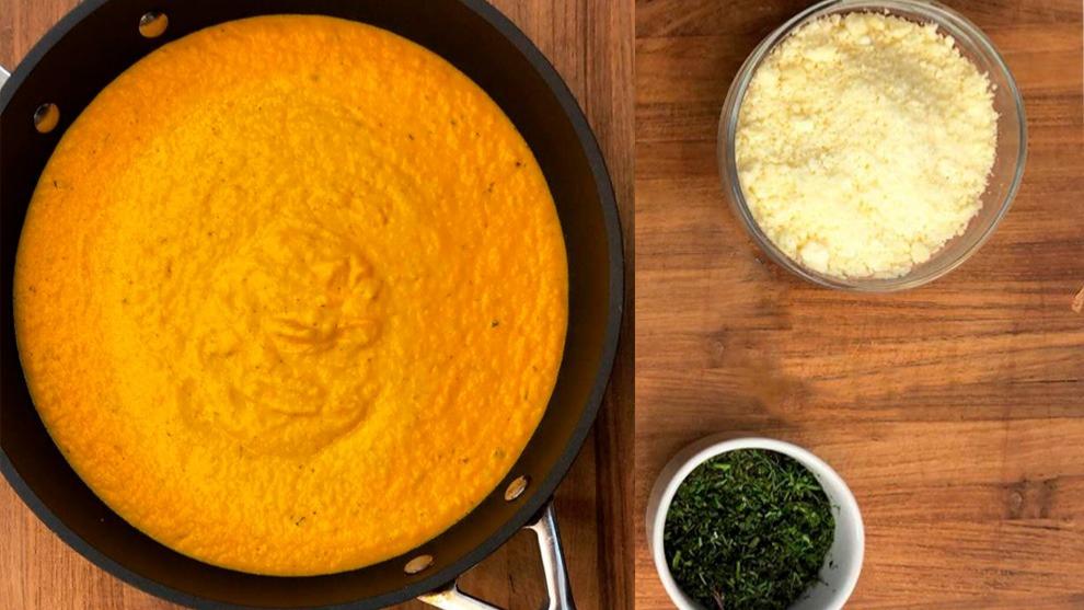 Receta del día: crema de zanahoria y mango con queso costeño