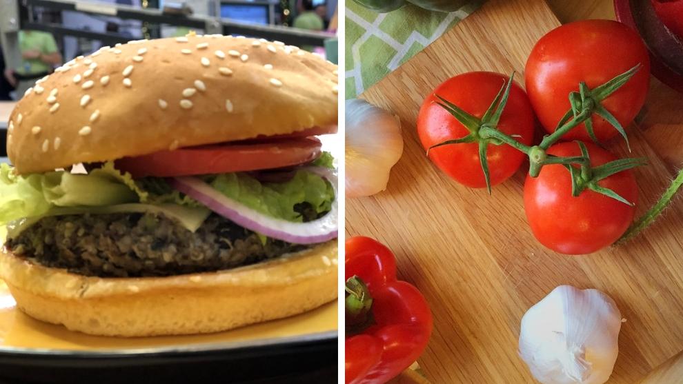 hamburguesas de frijol negro y quinoa