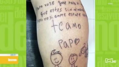 Luis Delgado se tatuó conmovedor mensaje de su hijo