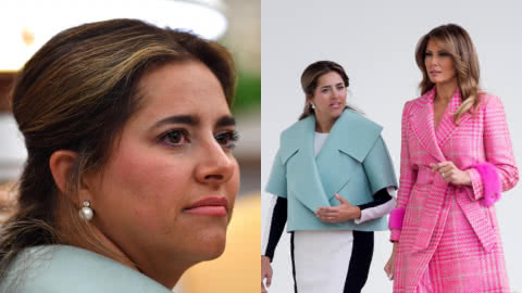 La Tienda de Macla: Leal Dacarett defiende el traje de la primera dama Juliana Ruiz