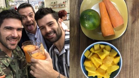 Zumo mágico: mango, naranja y zanahoria