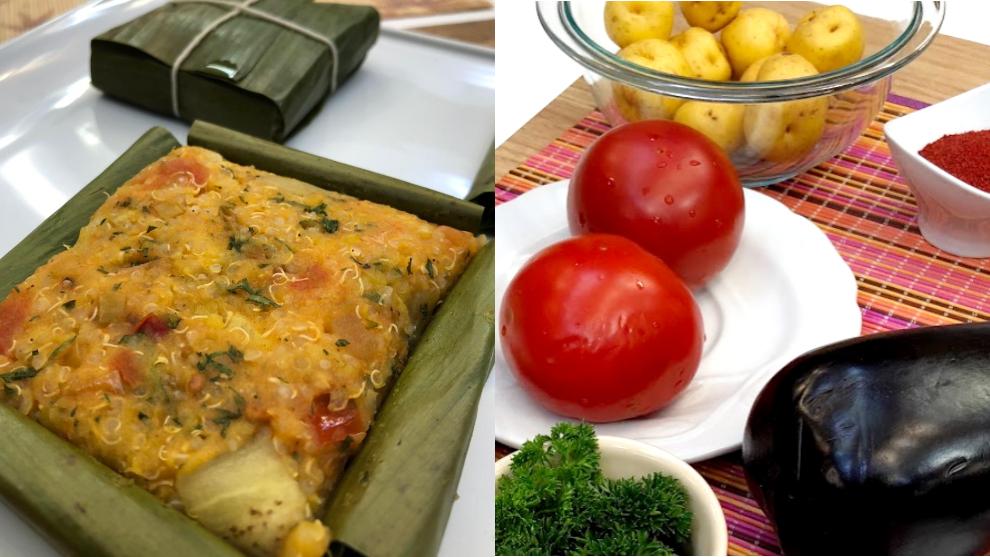 Receta del día: tamales vegetarianos de papa criolla y quinoa