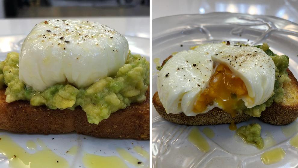 Tostadas de aguacate con huevos pochados
