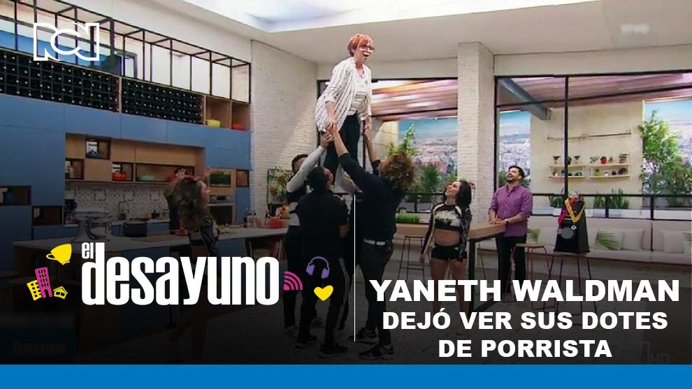 Yaneth Waldman como porrista en El Desayuno
