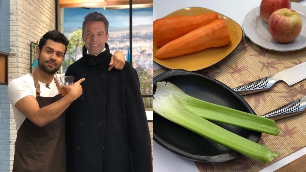 Zumo contra retención de líquidos: zanahoria, manzana, apio y coco