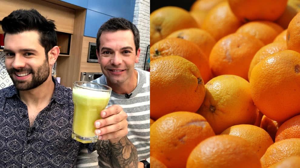 Zumo para un buen comienzo de jornada: naranja y manzana