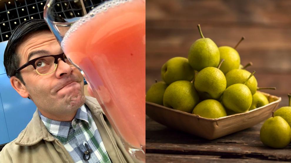 Zumo del día: guayaba y manzana