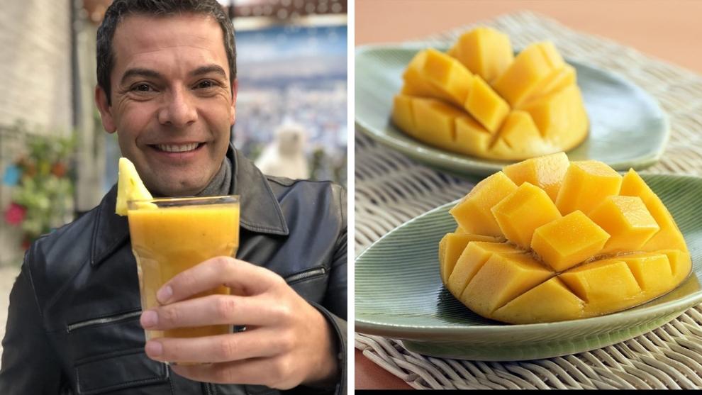 Zumo del día: mango, piña y maracuyá