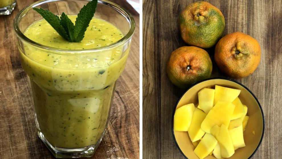 Zumo cítrico: mango y mandarina