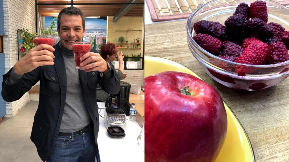 El zumo del día: mora y manzana