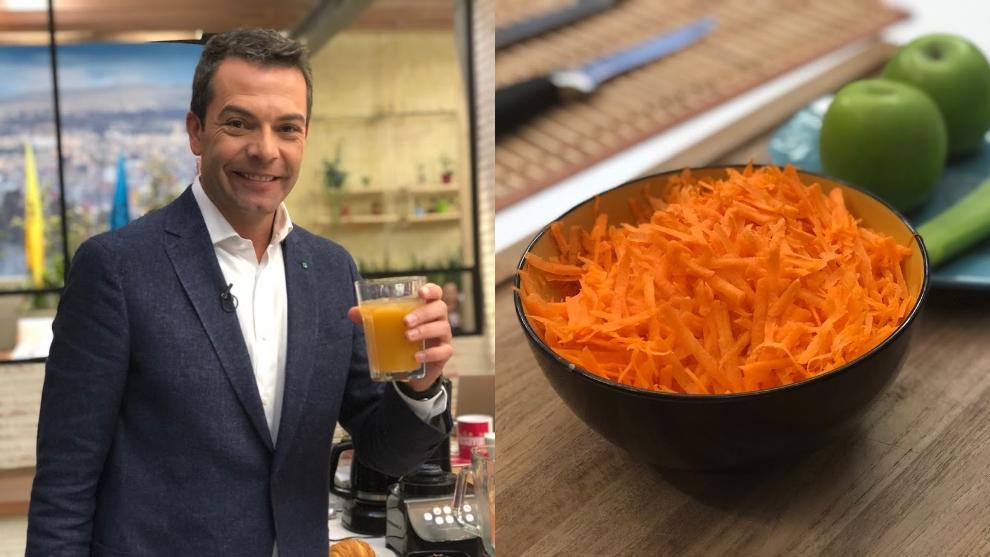 Zumo para desintoxicar riñones: zanahoria, apio y manzana
